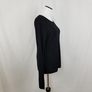 Chelsea & Theodore Sweaters - NEW 100% Cashmere Black Wide Split Sleeve Sweater